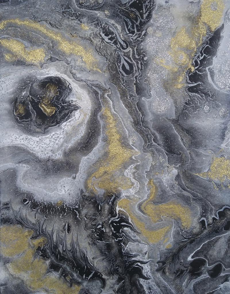 Point 25 | Pintura Acrílica Fluida, Abstracta Y Conceptual
