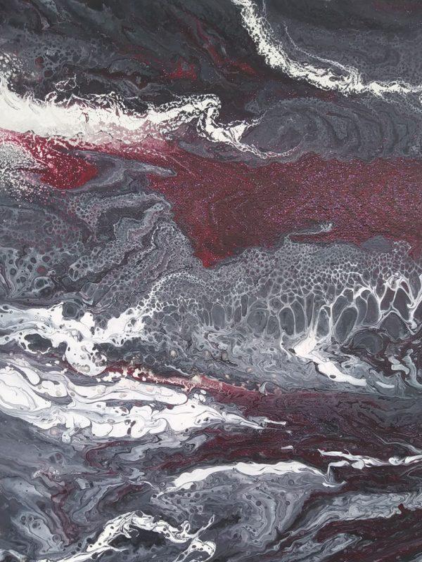 Grey 27 | Pintura Acrílica Fluida, Abstracta Y Conceptual
