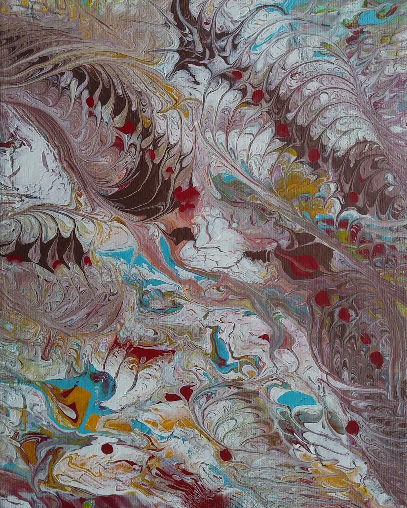 Pastel 29 | Pintura Acrílica Fluida, Abstracta Y Conceptual