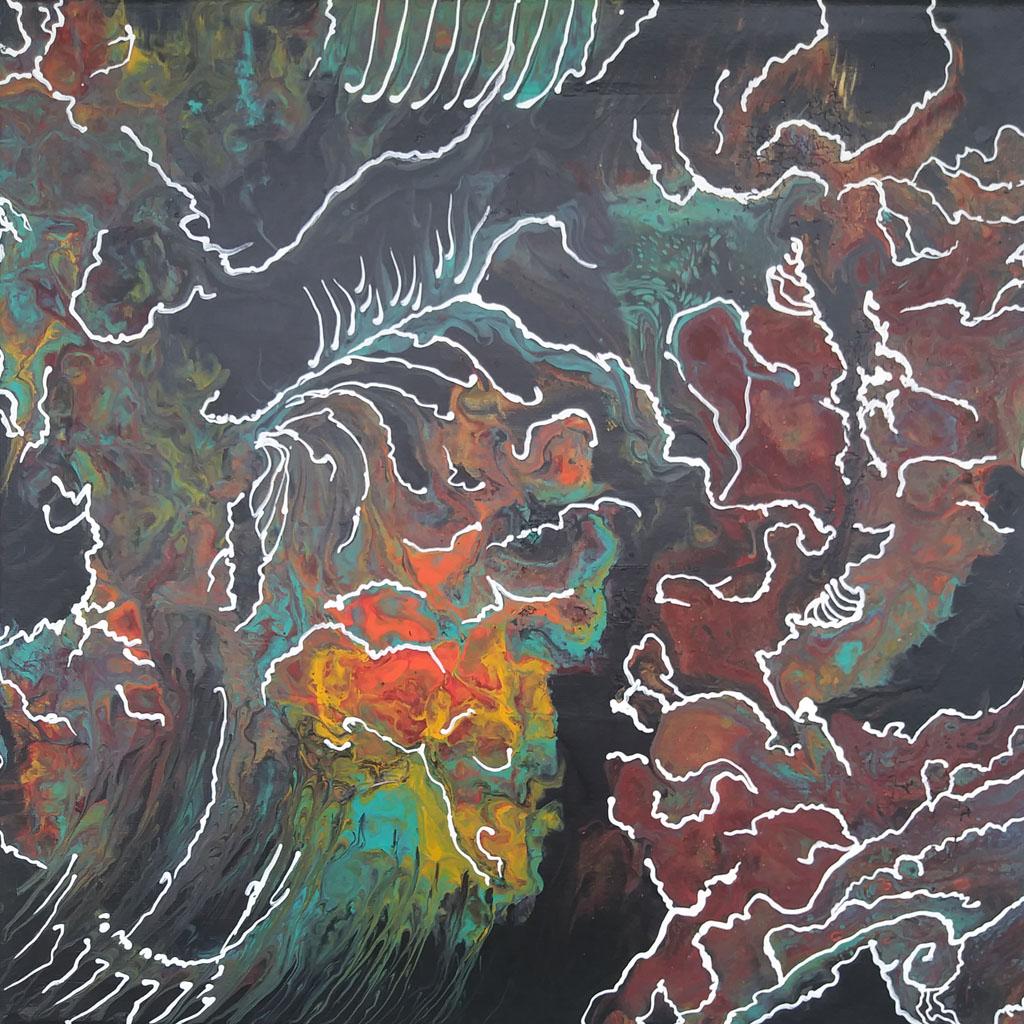 31 Spine L | Pintura Acrílica Fluida, Abstracta Y Conceptual
