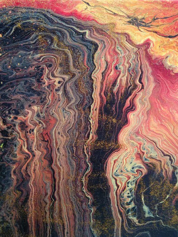 40 Hawaii 1 | Pintura Acrílica Fluida, Abstracta Y Conceptual