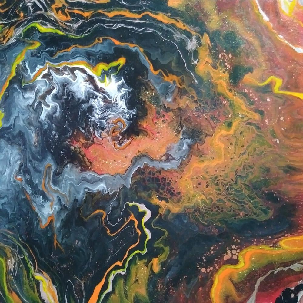 45 Hawaii 4 – Pintura Acrílica Fluida, Abstracta Y Conceptual