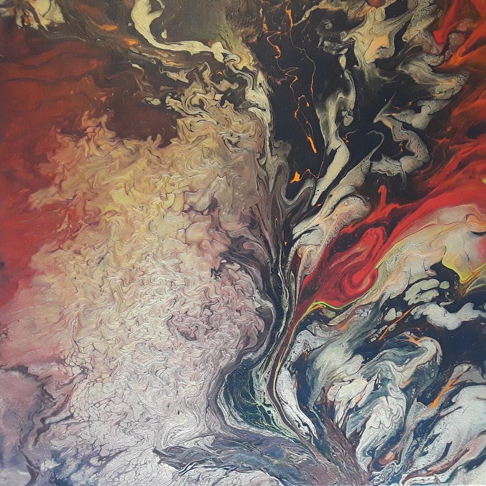 47 Straight 2 - Pintura Acrílica Fluida, Abstracta Y Conceptual