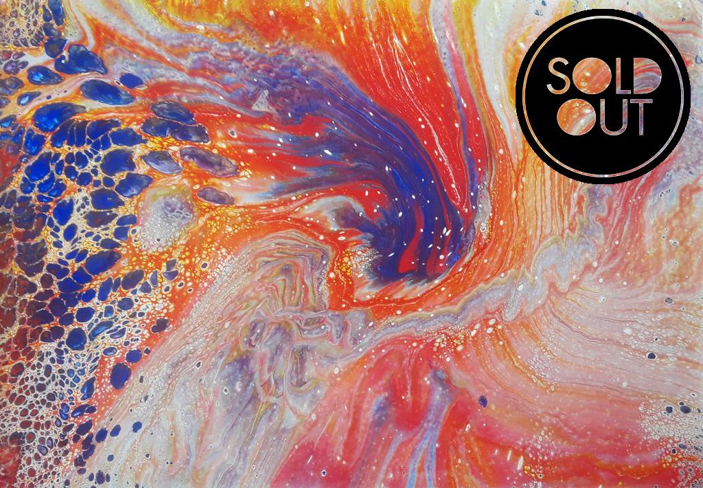 48 Remolino Blue   Pintura Acrílica Fluida, Abstracta Y Conceptual