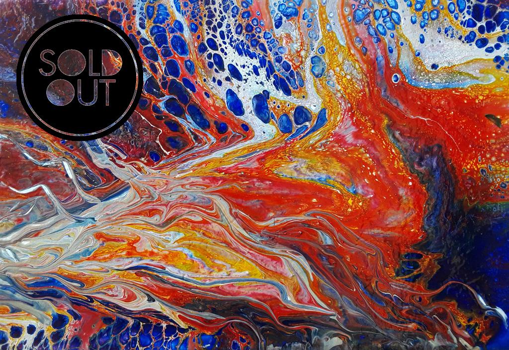 50 Fire - Pintura Acrílica Fluida, Abstracta Y Conceptual
