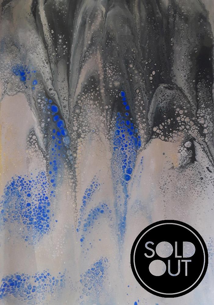54 Deep Blue - Pintura Acrílica Fluida, Abstracta Y Conceptual