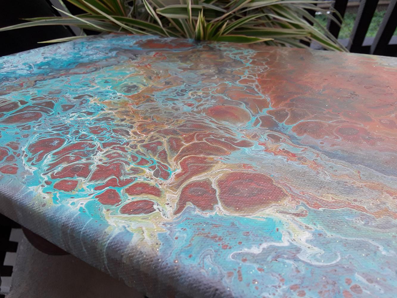 56 Aqua | Pintura Acrílica Fluida, Abstracta Y Conceptual