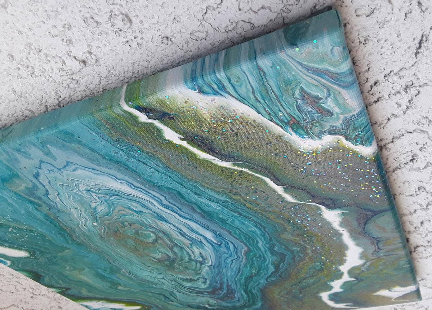 61 Glitter Lake | Pintura Acrílica Fluida, Abstracta Y Conceptual