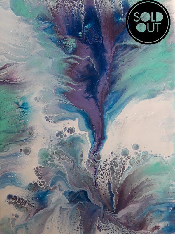 64 Flor Dip – Pintura Acrílica Fluida, Abstracta Y Conceptual