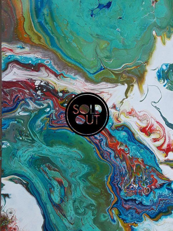69 Mayra 2 Lakes | Pintura Acrílica Fluida, Abstracta Y Conceptual