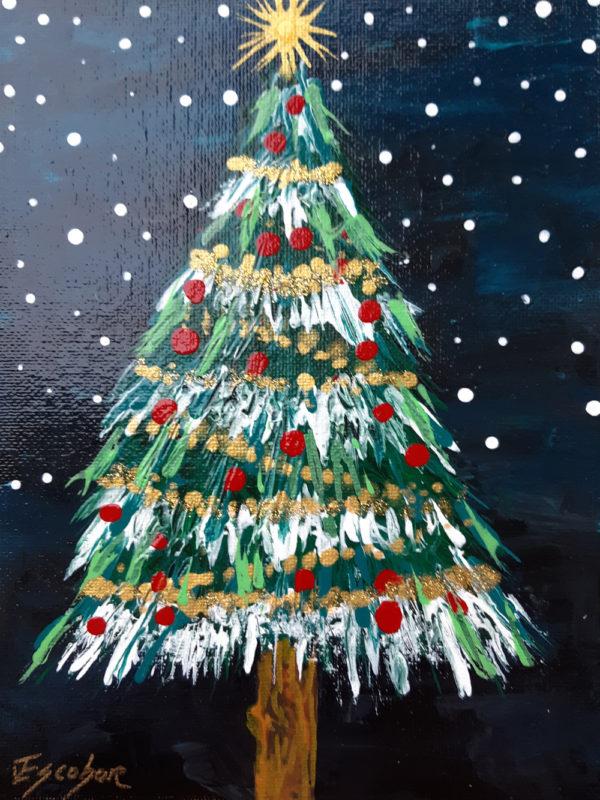 Árbol De Navidad Nocturno