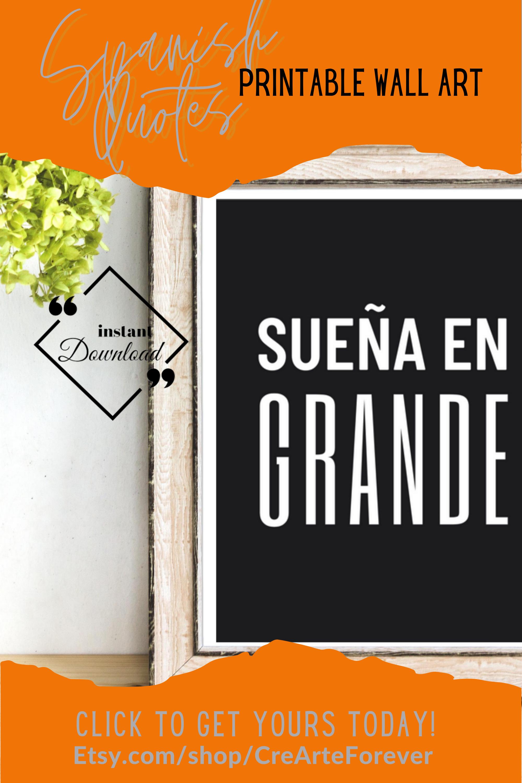 Spanish Quotes Printable Wall Art