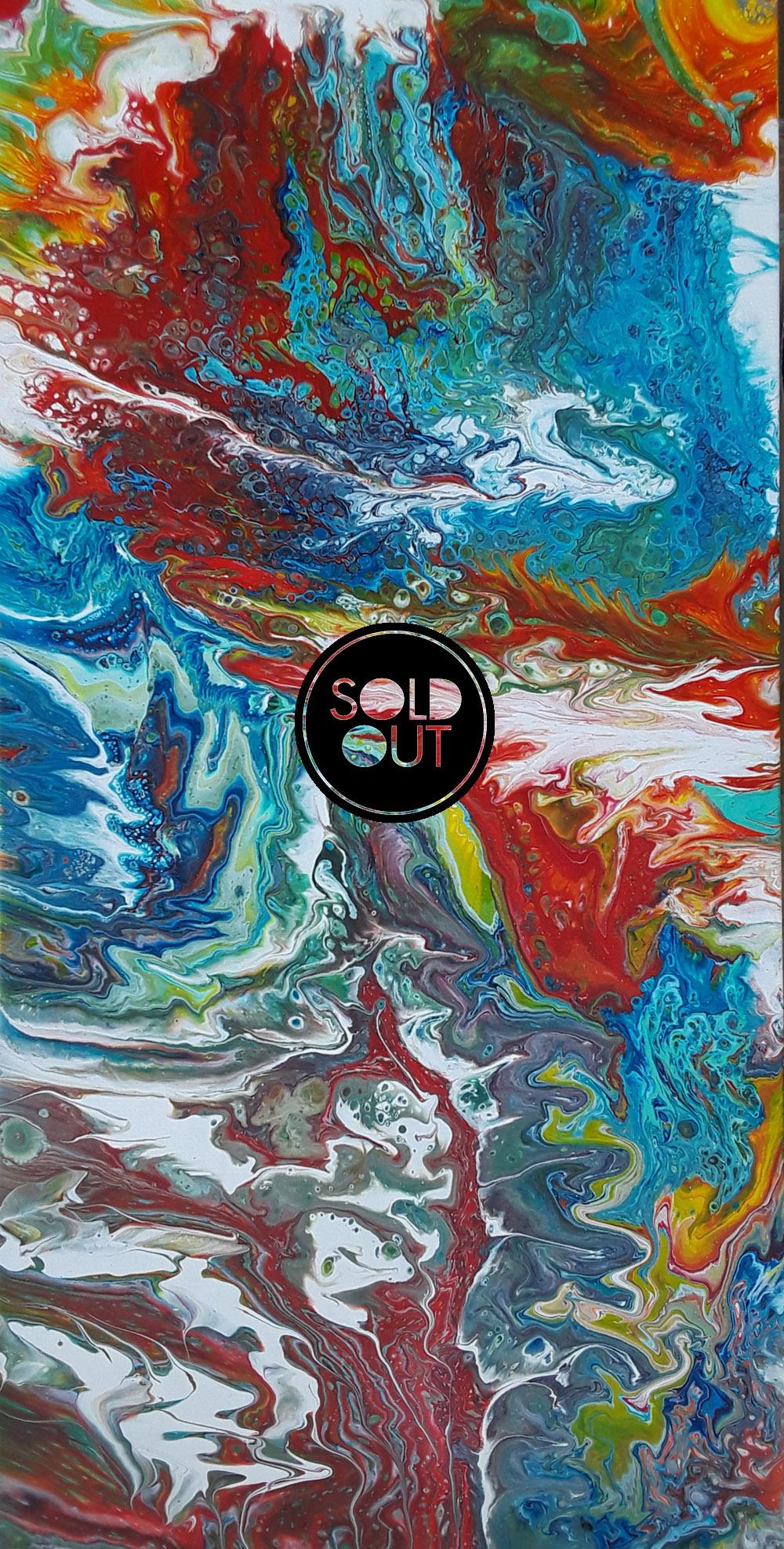 71 Mayra Free | Pintura Acrílica Fluida, Abstracta Y Conceptual