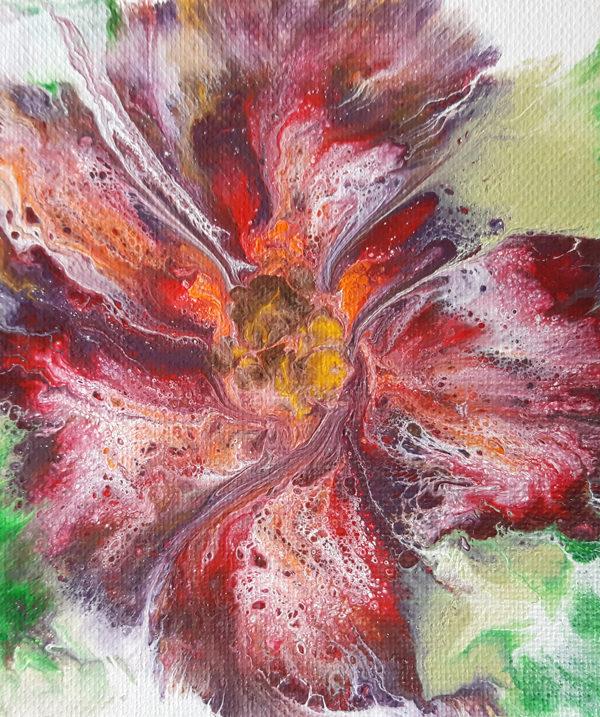 flor abstracta en acrilico
